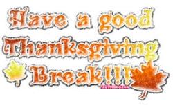 Thanksgiving Break No School